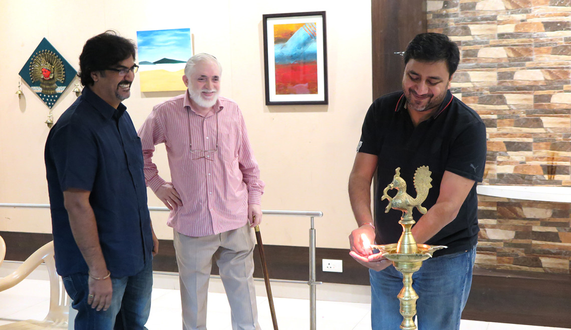 Rangbunch exhibition inauguration, Pune